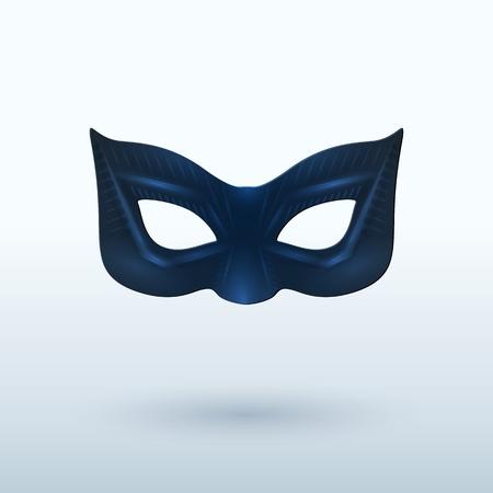 masquerade mask: Black Leather Mask