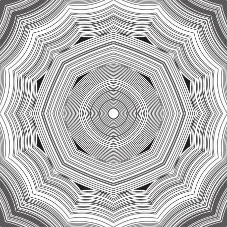 optical image: Black and White Abstract Psychedelic Background. Vector Illustration.