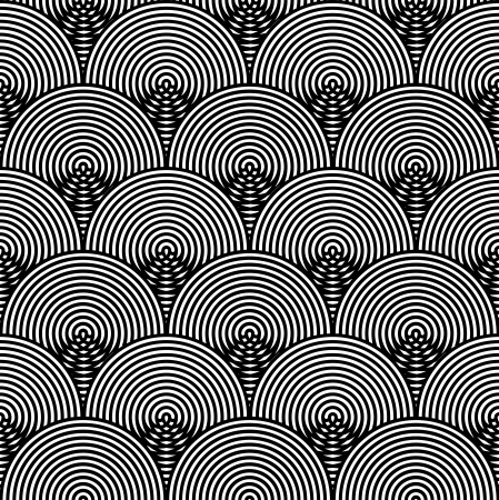 extra sensory perception: Black and White Psychedelic Circular Textile Pattern.