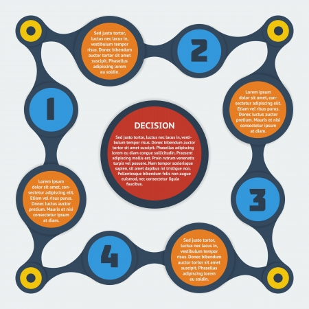 Metaball infographic elements - Flat design