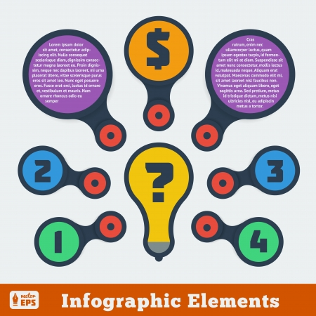 mindmap: Metaball infographic elements - Flat design
