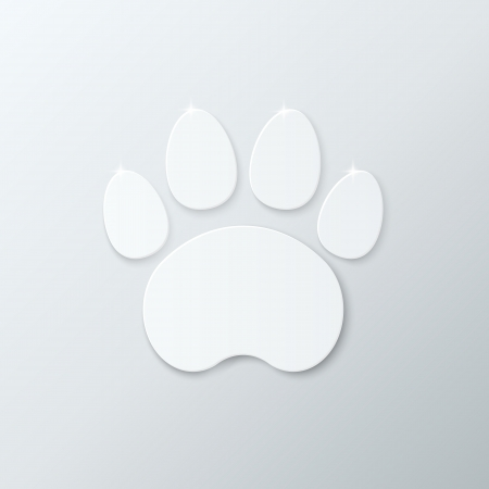 Shiny Plastic Trace of Cat  Vector Icon  photo