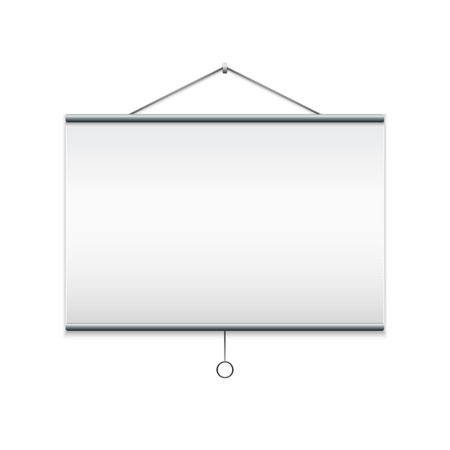 Projector screen  Isolated on white illustration  illustration
