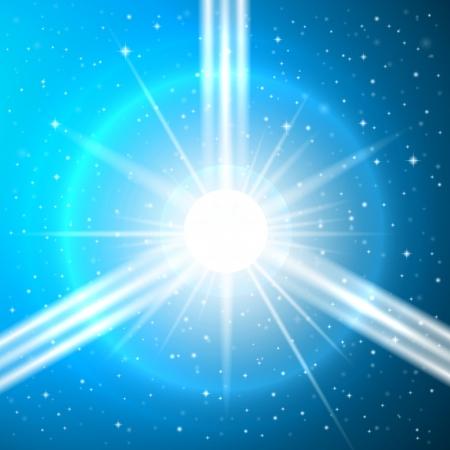 laser: The birth of a supernova - Futuristic Space Illustration Stock Photo