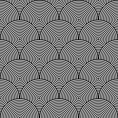extra sensory perception: Black and White Psychedelic Circular Textile Patterns ??? Seamless Background