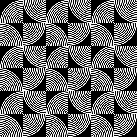 Black and White Psychedelic Circular Textile Patterns ??? Seamless Background photo