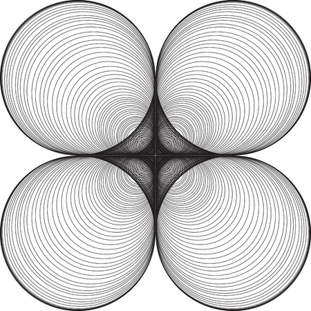 optical image: Black and White Abstract Psychedelic Background of Circular Shapes