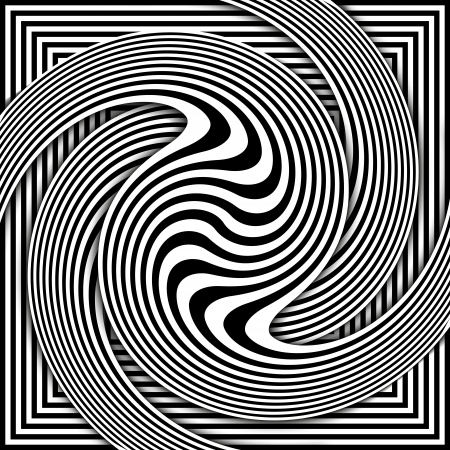 extra sensory perception: Spiral Optical Illusion - Abstract Black and White Opt Art Background