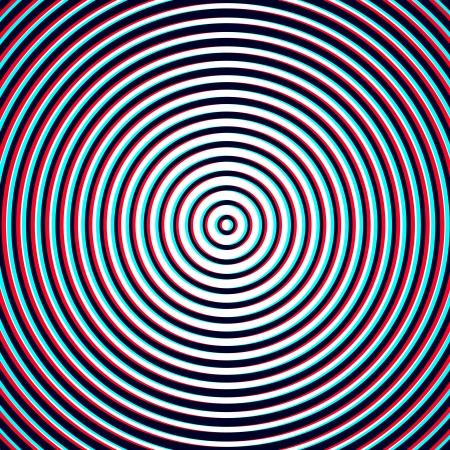 Illusion d'optique - Anaglyphe en spirale Opt Art Illustration