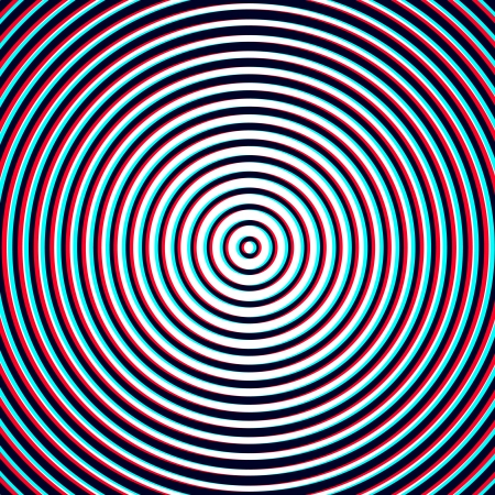 anaglyph: Optical Illusion - Spiral Anaglyph Opt Art Illustration
