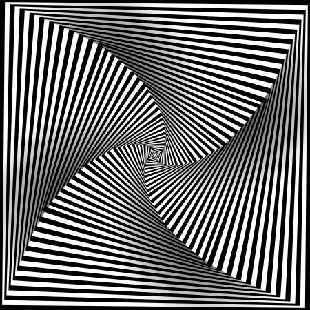Spiral Optische Täuschung - Abstrakte Schwarzweiss-Opt Kunst-Hintergrund