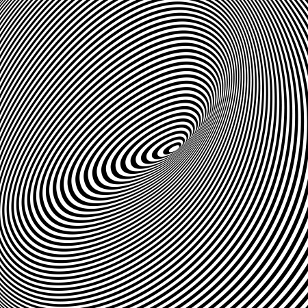Spiral Optical Illusion - Abstract Black and White Opt Art Background