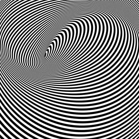 hypnosis: Spiral Optical Illusion - Abstract Black and White Opt Art Background