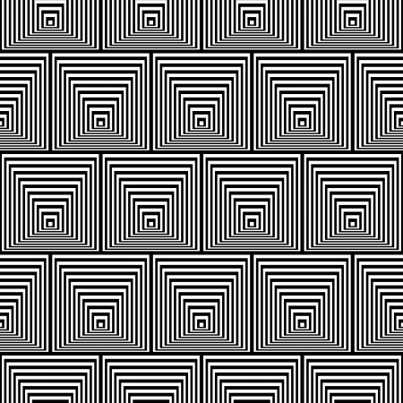 Pattern with Optical Illusion - Black and White Opt Art Seamless Stock Vector - 25495658