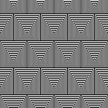 opt: Wzorzec z złudzenie optyczne - Black and White Opt-art bez szwu