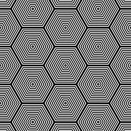 光学錯覚 - 黒と白のパターンを選ぶシームレスなアート  イラスト・ベクター素材