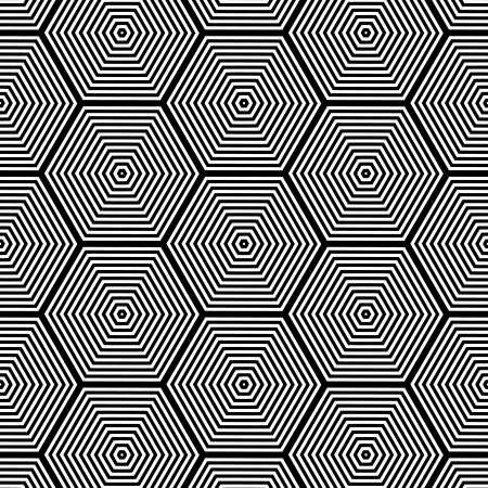 extra sensory perception: Pattern with Optical Illusion - Black and White Opt Art Seamless