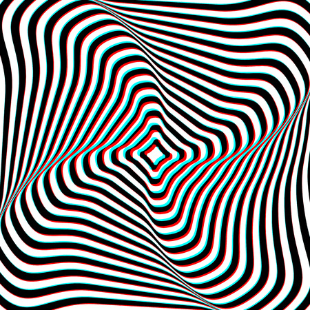 extra sensory perception: Optical Illusion - Anaglyph Opt Art Illustration