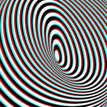 Optische Täuschung - Anaglyph Opt Kunst Illustration Illustration