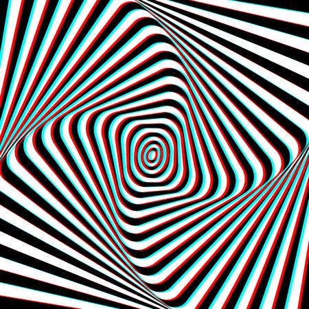 opt: Złudzenie optyczne - Ilustracja Anaglyph Opt Art
