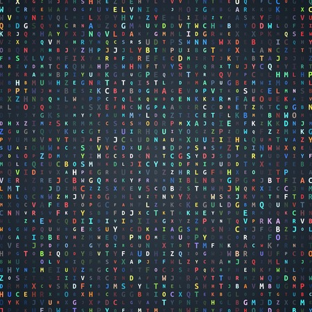 randomly: Abstract Alphabet Background with Colorful Randomly Letters