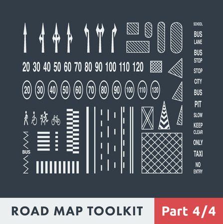 road map: Road Map Toolkit. Part 4 of 4: Basic Elements of Road Marking.