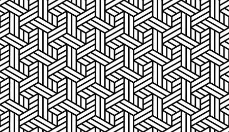 黒と白の光幾何学的な印刷用生地 – パターン スウォッチ パネルで抽象的な背景にシームレスな  イラスト・ベクター素材