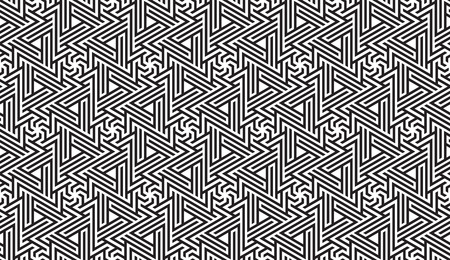 swatches: Black and White Optical Geometric Seamless for Printing on Fabric – Abstract Background with Pattern in Swatches Panel Illustration