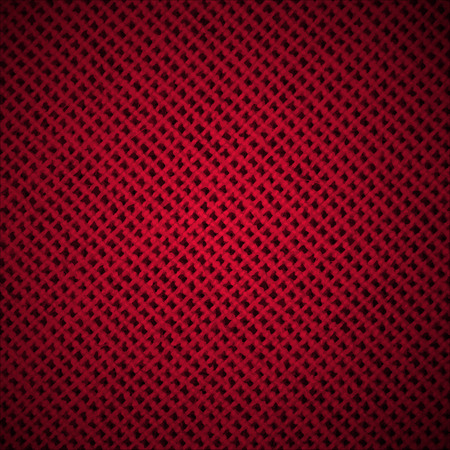 hessian: Abstract Dark Background with Red Fabric Texture Fibers