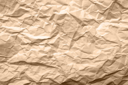 blasted: Light Brown Texture of Crumpled Paper - Abstract Background