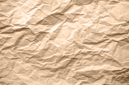 wrinkled paper: Light Brown Texture of Crumpled Paper - Abstract Background