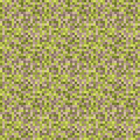 brown wallpaper: Pixel Art Seamless Background - Green Brown Wallpaper with Pattern on Swatches Panel Illustration