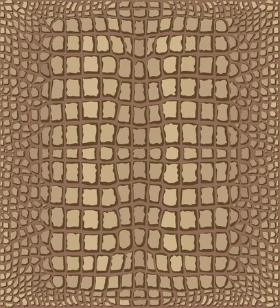 crocodile skin leather: Light Brown Crocodile Skin Texture  Illustration with Pattern in Swatches Illustration