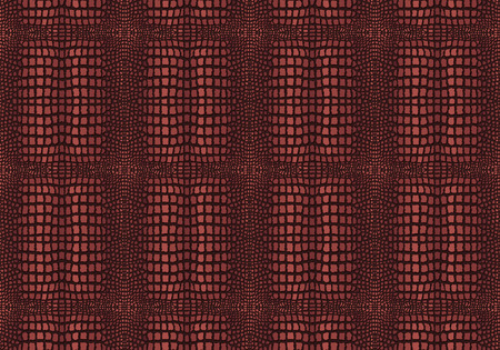 brown skin: Dark Brown Crocodile Skin Texture  Illustration with Pattern in Swatches