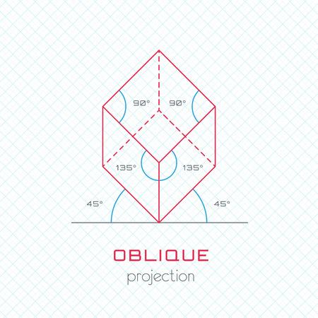 perspectiva lineal: Objeto Frame en la Directriz Axonométrica perspectiva oblicua Plantilla de cuadrícula