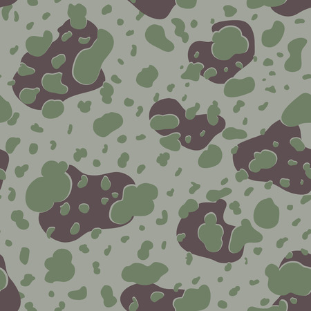 experimental: Military Camouflage Textile Seamless: USA, 1942, MacLaren, Experimental - Vector Illustration with Pattern in Swatches Panel Illustration