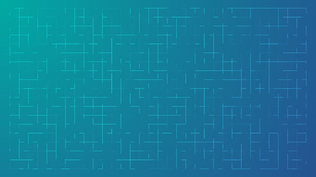 bluish: Abstract Bluish Technology Background with a Random Grid of Elements - Vector Wallpaper Illustration