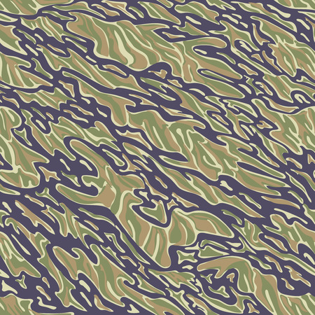 tiger stripe: Military Camouflage Textile Seamless: USA, 1964-1975, Tiger Stripe Uniform - South Vietnam - Vector Illustration with Pattern in Swatches Panel