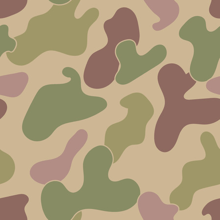 Military Camouflage Textile Seamless: USA, 1942s, Jungle Frogskin - Vector Illustration with Pattern in Swatches Panel
