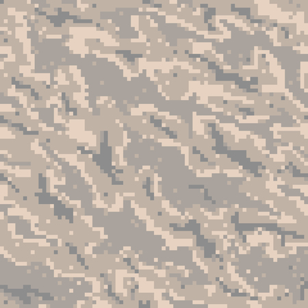 Military Camouflage Textile Seamless: USA, 2002, USAF Digital Tiger Stripe - Vector Illustration with Pattern in Swatches Panel
