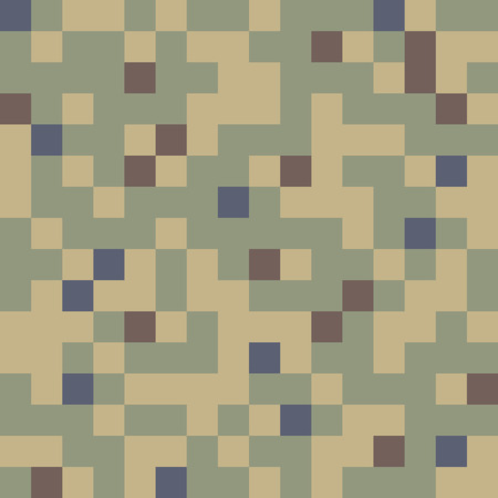 experimental: Military Camouflage Textile Seamless: USA, 1977 - 1978, Dual-Tex, MOUT, Experimental - Vector Illustration with Pattern in Swatches Panel