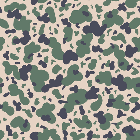 Military Camouflage Textile Seamless: Afghanistan, 1980, DRA Commandos, Duck Hunter - Vector Illustration with Pattern in Swatches Panel Vettoriali