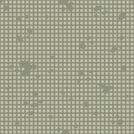 Military Camouflage Textile Seamless: USA, 1983, Night Desert - Vector Illustration with Pattern in Swatches Panel Çizim