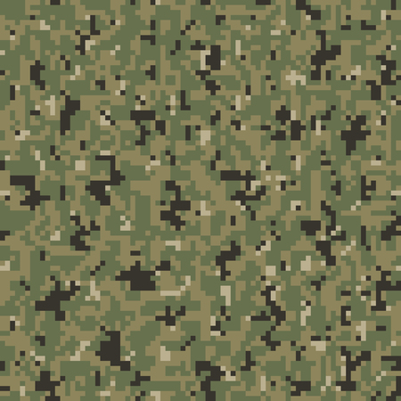 military uniform: Military Camouflage Textile Seamless: USA, 2010, NWU-3 Navy Working Uniform Type 3 Tropical - Vector Illustration with Pattern in Swatches Panel Illustration