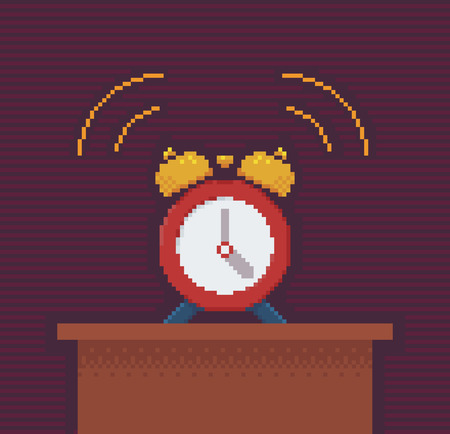 illustration technique: Alarm Clock - Illustration in Pixel Art Classical Technique
