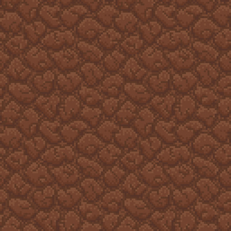 illustration technique: Ground Seamless with Pattern in Swatches Panel - Illustration in Pixel Art Classical Technique