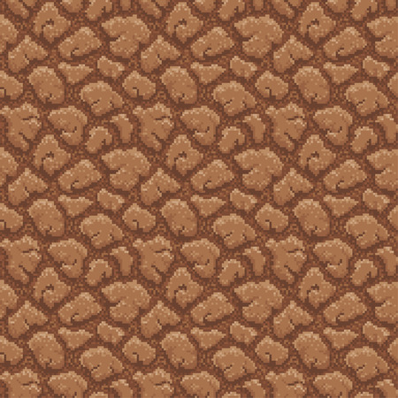 pixelart: Ground Seamless with Pattern in Swatches Panel - Illustration in Pixel Art Classical Technique