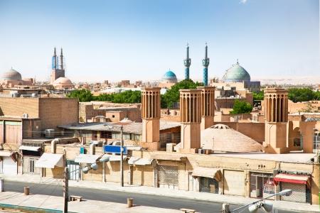 Panoramic view of ancient city of Yazd, Iran