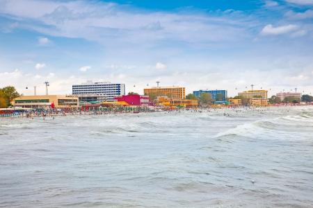 Schöner Strand im Sommer Mamaia, Rumänien Standard-Bild - 17919767