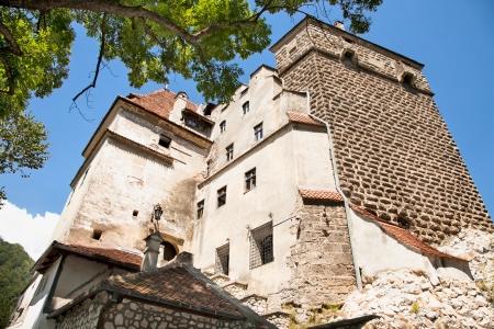 gatehouse: Bran , Dracula castle, today is museum, Romania Stock Photo